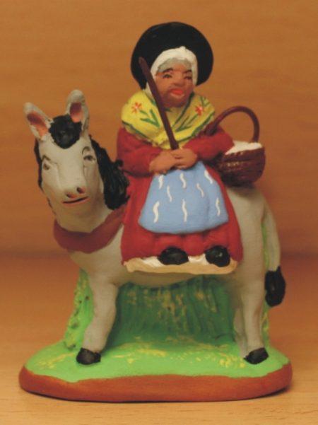 Margarido sur son âne