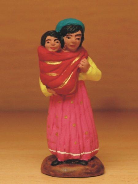 Gitane et son enfant