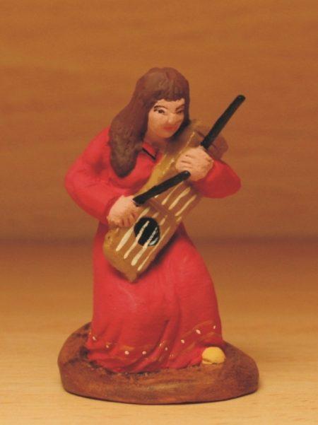 Joueuse de flûte et tambourin