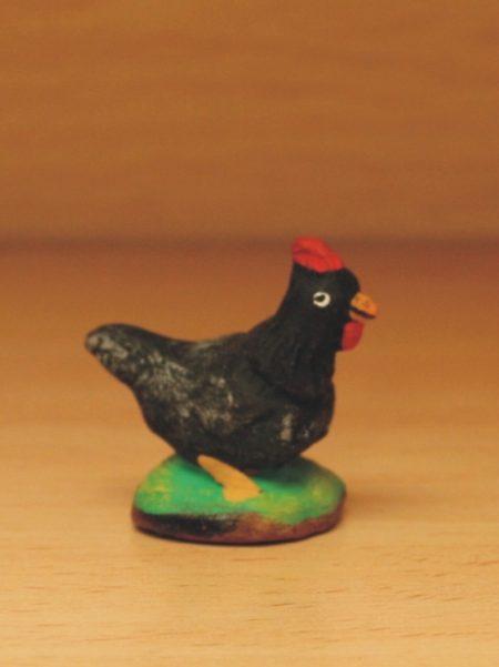 Poule noire droite
